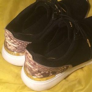 Michael Kors Black Snakeskin sneakers